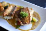 Cuisine, gastronomie, poisson, restaurant, plat, sauce