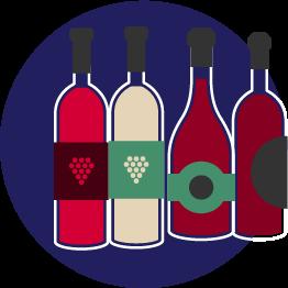 vins à déguster à domicile bleu blanc vin