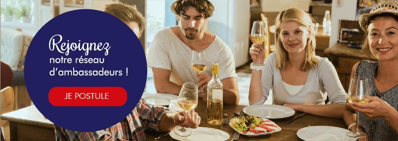 rejoindre les réseau d'ambassadeurs bleu blanc vin